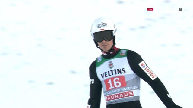 Skok Piotra Żyły z 2. serii konkursu w Garmisch-Partenkirchen