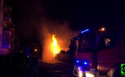 Pożar na ul. Podłużnej