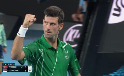 Perfekcyjny dropszot Djokovicia w półfinale Australian Open