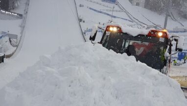 Atak zimy w Bischofshofen.