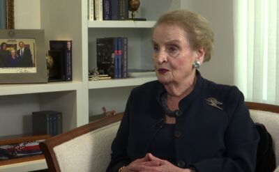 """Pierwsza część """"Horyzontu"""". Madeleine Albright"""
