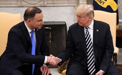 Donld Trump pytany o stałe bazy USA w Polsce