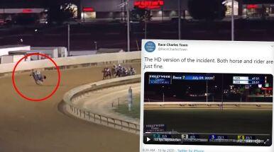Koń pędził po zwycięstwo, ale nagle wszystkich zaskoczył.