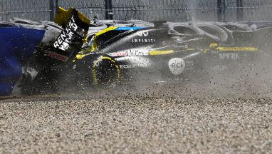 Groźnie wyglądający wypadek na treningu F1.