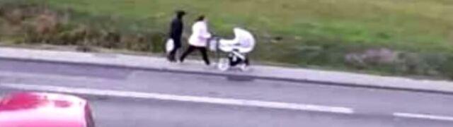 Rowerzystka jechała po chodniku.  Po minięciu się z ciężarówką już nie żyła