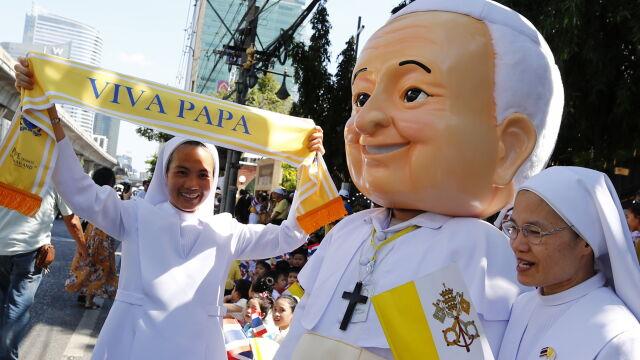 Papież Franciszek z wizytą w buddyjskim królestwie