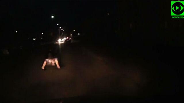 """Weszła nagle na jezdnię, tuż przed maską samochodu. """"Przez całą drogę nogi mi się trzęsły"""""""