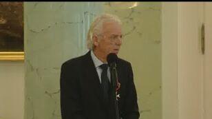 Trener Leo Beenhakker w Pałacu Prezydenckim