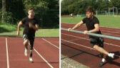 Niemiecki lekkoatleta biega przy użyciu protezy nogi