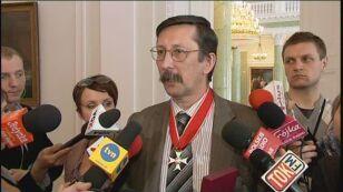 Historyk Jan Żaryn z IPN nie krył radości z wyróznienia