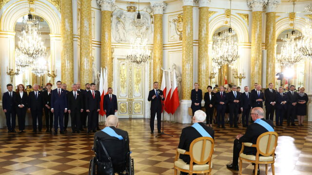 Prezydent wręczył Ordery Orła Białego