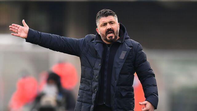 """Zagrożony Gattuso w Napoli. """"Będzie miał trzy mecze"""""""
