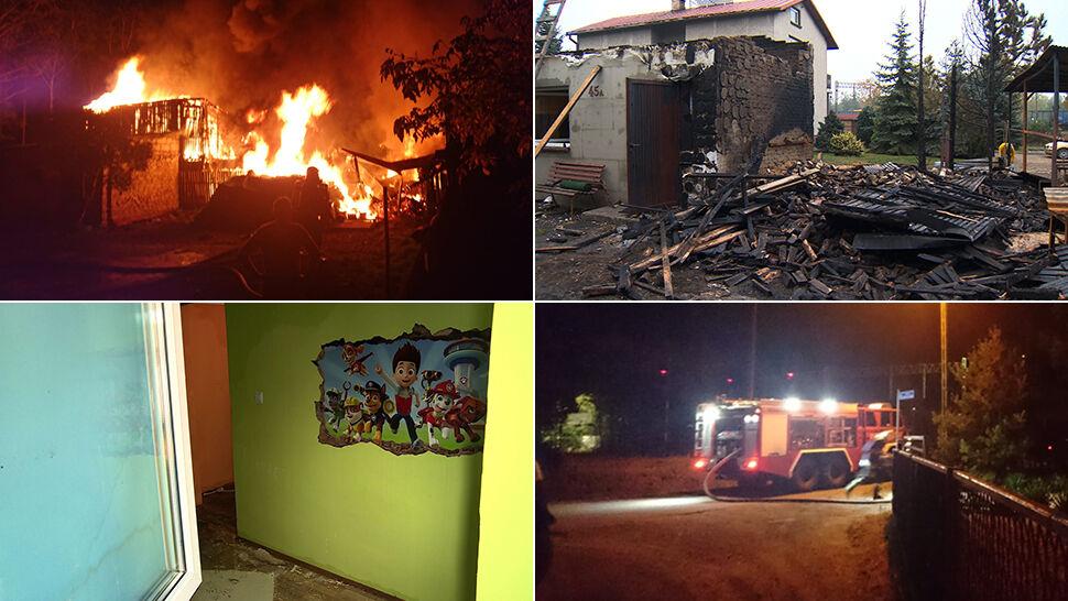 Rodzina straciła dom. Strażacy: Hydranty były niesprawne. Mogliśmy tylko patrzeć na ogień