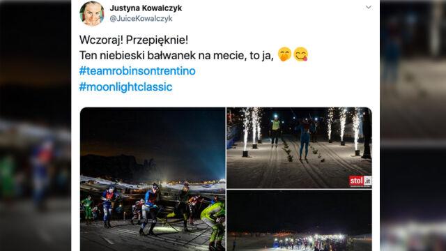 """Wielka wygrana w świetle latarki. Justyna Kowalczyk """"nie zapomina starej sztuki"""""""