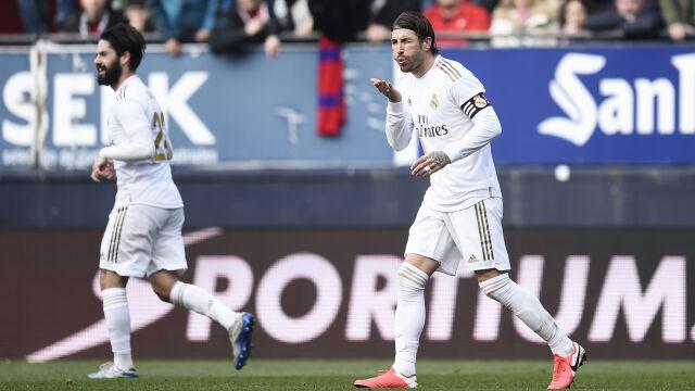 Wysoka wygrana Realu w Pampelunie. 90. gol Sergio Ramosa