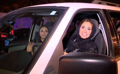 Saudyjki wyjechały na drogi [wideo archiwalne]