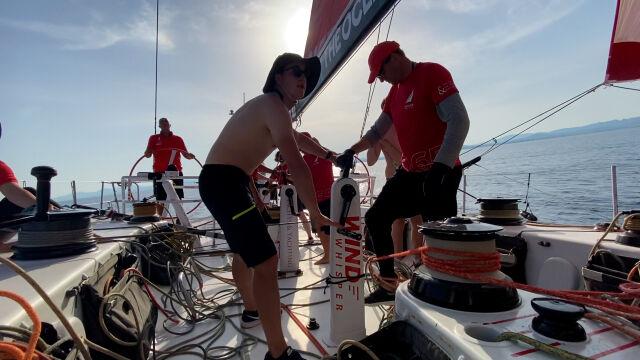 Załoga Sailing Poland podczas etapu z Alicante do Genui