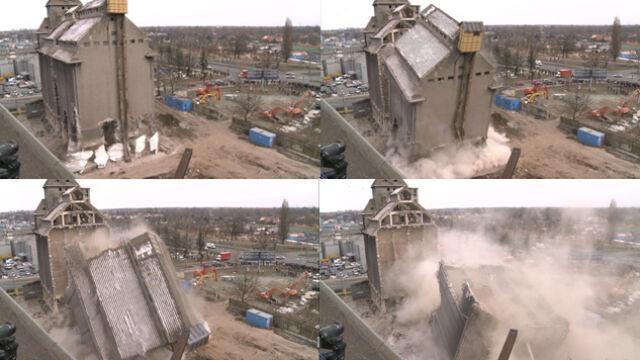 """Wyburzyli część starego silosa. """"Poszło cacy"""""""