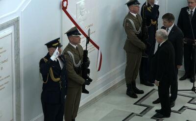 Odsłonięcie tablicy Lecha Kaczyńskiego w Sejmie