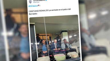 Powrót króla. Cristiano Ronaldo obejrzał El Clasico z trybun