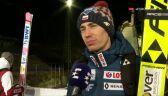 Stoch po konkursie drużynowym w Lahti