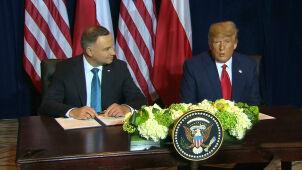 Andrzej Duda i Donald Trump podpisali deklarację. Trwają rozmowy