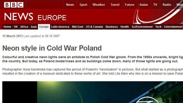 BBC zachwycone polskimi neonami
