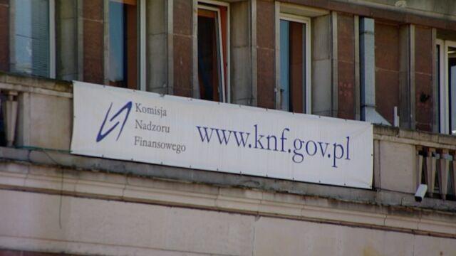 Rzecznik KNF: odczytujemy te informacje jako szantaż ze strony pana Czarneckiego
