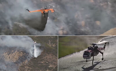 Największe w historii Kalifornii pożary i dramatyczne próby okiełzania ognia