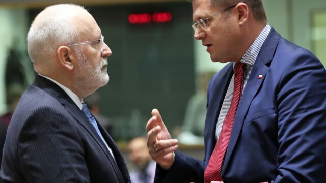 A quarter of an interview with Poland. Timmermans is afraid of two problems