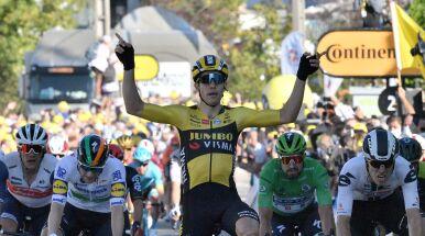 Świetny finisz Van Aerta na piątym etapie TdF. Niespodziewana zmiana lidera
