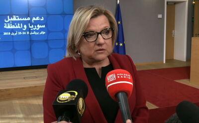 Beata Kempa o pomocy humanitarnej dla Syrii