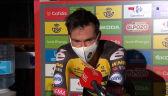 Roglić po wygraniu 1. etapu Vuelta a Espana