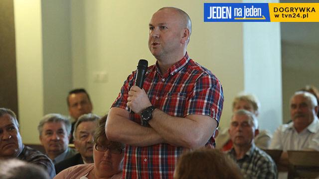 Spotkanie wyborców z Kamińskim, Wojtunik zadał pytanie.