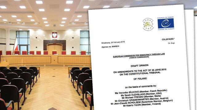 Komisja Wenecka kategorycznie o zmianach w TK: muszą zostać usunięte