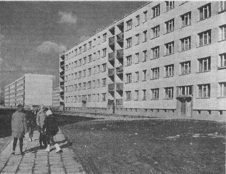 Budynki w zespole A-3 w ok. 1968 r.