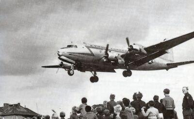 Halvorsen i samoloty biorące udział w operacji zaopatrywania Berlina