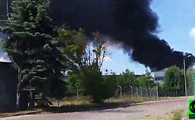 Pożar zbiorników z substancją ropopochodną w Paterku