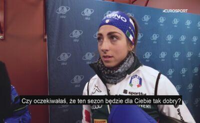 Lisa Vitozzi po biegu indywidualnym na MŚ