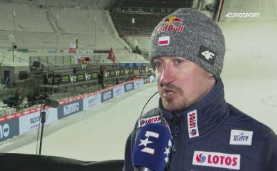 Adam Małysz po kwalifikacjach w Lillehammer