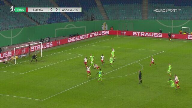 Puchar Niemiec. RB Lipsk - Wolfsburg 1:0. Gol Yusuf Poulsen