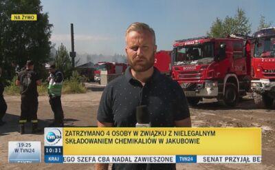 Cztery osoby zatrzymane w związku z pożarem