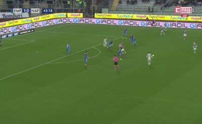 Gol Piotra Zielińskiego przeciwko Empoli