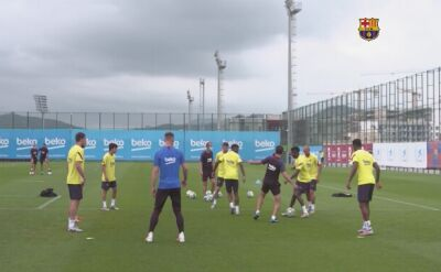 FC Barcelona trenowała po meczu z Osasuną
