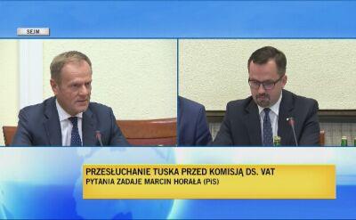 Tusk: prezentowany raport jest z 2014 roku, kiedy kończyłem karierę premiera