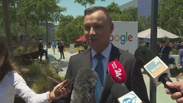 Prezydent Andrzej Duda rozmawiał z kierownictwem Google'a i YouTube'a