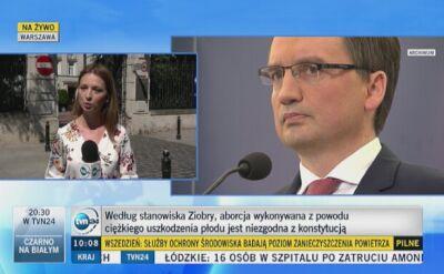Stanowisko Ziobry o niezgodności aborcji eugenicznej z kontytucją