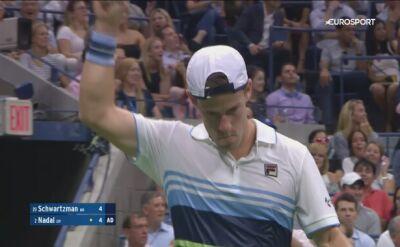 Piękny lob Schwartzmana w ćwierćfinale US Open