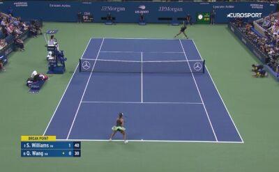 Skrót meczu Williams - Wang
