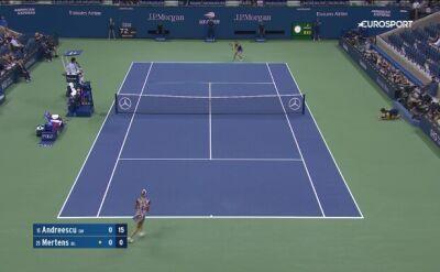 Skrót meczu Andreescu - Mertens w ćwierćfinale US Open